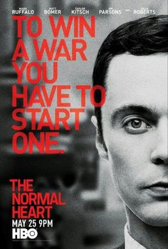 Rent The Normal Heart starring Mark Ruffalo and Matt Bomer on DVD and Blu-ray. Get unlimited DVD Movies & TV Shows delivered to your door with no late fees, ever. One month free trial! Series Movies, Movies And Tv Shows, Tv Series, The Normal Heart, Jim Parsons, Gay, Taylor Kitsch, Magic Mike, New Poster