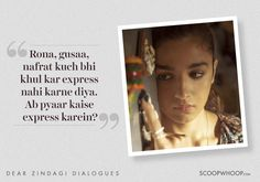 8 Heartwarming Lines From 'Dear Zindagi' To Help You Love Yourself & Your Zindagi Song Quotes, Girl Quotes, Movie Quotes, True Quotes, Woman Quotes, Best Quotes, Hindi Quotes, Qoutes, Dear Zindagi Quotes