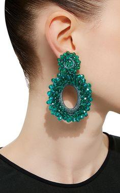 *M'o Exclusive* Beaded Drop Earrings by BIBI MARINI Now Available on Moda Operandi