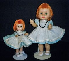 Vintage Vogue R & B Lil' Imp & Wee Imp Dolls w/ Matching Original Tagged Outfits