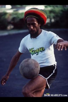 I love this picture because it kills two birds in one stone. I love reggae music and I'm a huge Bob Marley fan, but soccer was also a huge part of my life. I started playing when I was 3 and stopped last year.