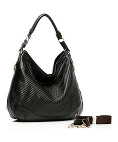 Love this Black Adina Embossed Leather Hobo by Foley & Agamo on #zulily! #zulilyfinds