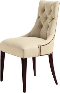 This chair was inspired by the salon chairs of the 1940s. The perfect chair to mix with almost any wood frame dining chair or used alone.