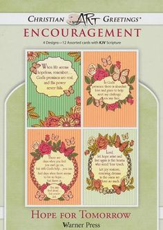 Hope for Tomorrow, Box of 12 Assorted Encouragement Cards $4.99