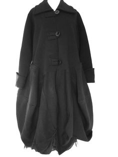 Stunning Sarah Santos Lagenlook Structured Parachute Coat Size M L Black | eBay