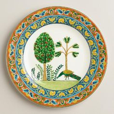 One of my favorite discoveries at WorldMarket.com: Voyage Peacock Plates, Set of 4
