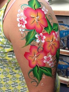 Beautifully face/body painting done on the arm.