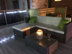 Romantic deck seating overlooking Bayou Teche