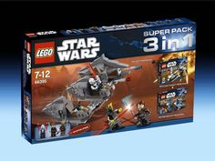 66395 Super Pack 3-In-1 (Only available in Europe). Includes 7913, 7914 and 7957. (2011)