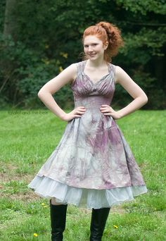 My teen and I did a wedding dress upcycle transformation into something she can actually wear out!