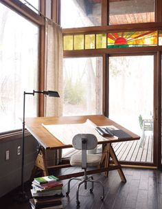Drafting table and stool via dailydanny.com