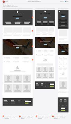 Responsive Website Wireframe Kit on Behance