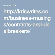 Contracts & Dealbreakers - KrisWrites