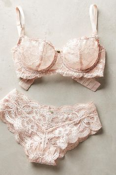 Clo Intimo Lace Balconette Bra - anthropologie.com