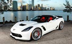[PICS] Shock and Awe: Arctic White Corvette Z06 on Polished Aluminum ADV.1 Wheels