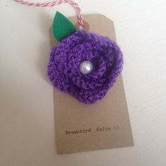Crochet Flower Brooch with Little Pearl  £12.00