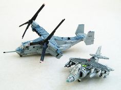 Osprey and Harrier: USMC STOVL aircraft by Mad physicist, via Flickr