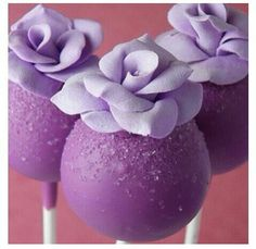 Purple cake pops! Love