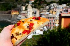 Locally grown and made foods in the Cinque Terre region are a major reason to visit! From fresh focaccia, seafood cones in Riomaggiore, basil and local wine