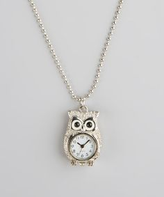 This Owl Watch Necklace by Kitschy Cute is perfect! #zulilyfinds