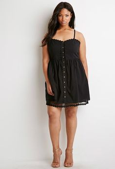 Lace-Trimmed Cami Dress | Forever 21 PLUS - 2000096867