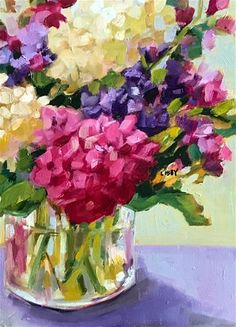 """Daily Paintworks - """"Elbow Room"""" - Original Fine Art for Sale - © Libby Anderson"""