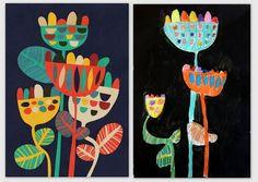 les petites têtes de l'art: Wild Flowers Art Print by Picomodi