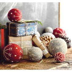 Roost Felt Snowflake Ball Ornaments – Modish Store