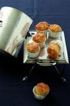Muffins à la menthe, au fromage et à la pomme