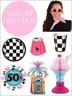 1950s Sock Hop Party Ideas