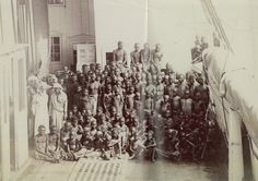Black African slaves rescued by HMS london.1880.They were about to be taken to Middle east. Arab Muslim slave trade