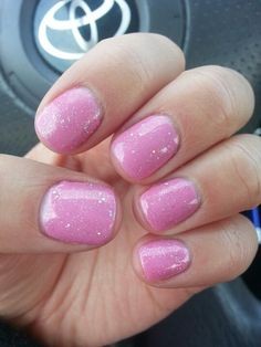 Bubblegum pink with gelish June Bride (for my bachelorette party!)