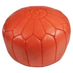 Leather Moroccan Pouf | Jonathan Adler