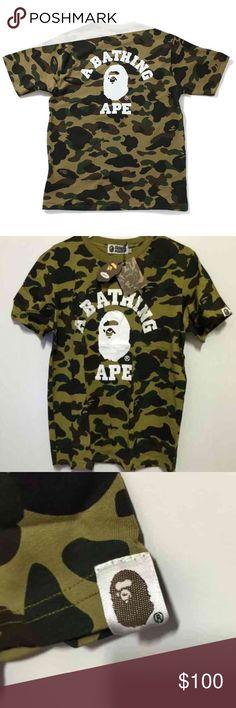 A bathing ape Bape green camo t shirt Brand new with tags in bag Bape Shirts Tees - Short Sleeve