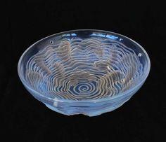 R. Lalique Art Deco fish glass bowl