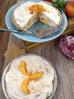 @cristinacooks makes a delicious No-Bake #peach #pie! #peaches #sweet #pie #easy #homeandfamily #homeandfamilytv