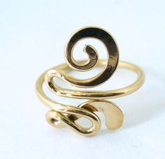creative toe ring   12k Gold Filled Snazzy Toe Ring by forkwhisperer on Etsy