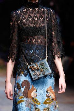 Dolce & Gabbana | Fall 2014 Ready-to-Wear Collection | Style.com  #fashion #runway #bag