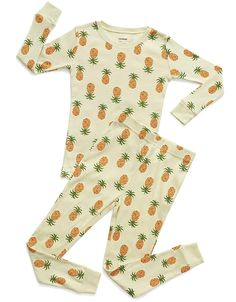 Leveret Kids Pajamas Boys /& Girls Solid Orange 2 Piece Pajama Set