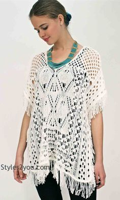 Jeanetta Knit Over Blouse In Cream, Womens Clothing, Womens Fashion, Chic, Boho, Boho Chic, Clothes for Women by Styles2you.com