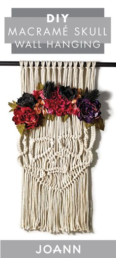 With this DIY Macramé Skull Wall Hanging tutorial from JOANN, your seasonal decorations just got taken up a notch! Whether you're getting your home ready for Dia de los Muertos, Halloween, or fall, you can't go wrong with this eclectic craft.
