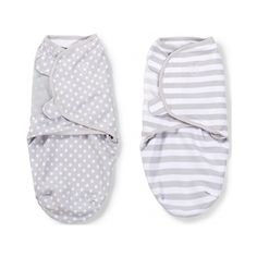 Swaddle Me Premium Katoen 2-Pack Grey Dot & Grey Stripe Small - Easy and effective for swaddling little babies. Again, at 2am, complexity is no Bueno.