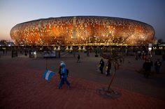 Soccer City Johannesburg South Africa by Eltekeh Luijendijk Soccer City, Soccer Stadium, Football Stadiums, Johannesburg City, Stadium Architecture, Thinking Day, African Countries, African Culture, East Africa
