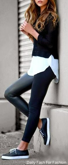 Deaux Tell Ivory and Black Sweater Top by Daily Fash For Fashion