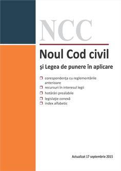 Noul Cod civil si Legea de punere in aplicare. Actualizat 17 septembrie 2015 - www.hamangiu.ro