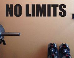 corporate wellness motivation, home gym wall decal, NO LIMITS