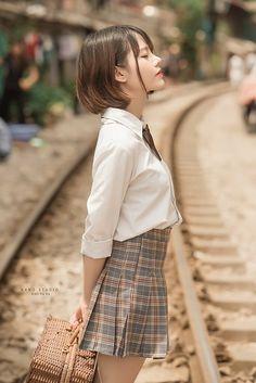 KKK_6713   Kiên Trần   Flickr Japanese School Uniform Girl, School Uniform Girls, Beautiful Japanese Girl, Beautiful Asian Girls, Cute Asian Girls, Cute Girls, Cute Kawaii Girl, Cute School Uniforms, Little Girl Models