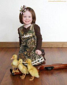 How sweet: duckies...and a gun.