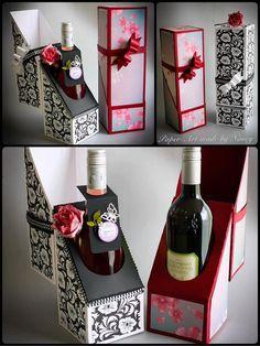 Etwas anderes Flasche Wein-Geschenk-box h 12 X 4 w und 4 tief   Einbauanleitung http://mysvghut.blogspot.co.uk/2015/06/wine-bottle-gift-box-assembly.html  Die sofortigen Download Formate für dieses Design verfügbar sind SVG für eine Vielzahl von elektronischen Schneidemaschinen DS.svg für Cricut Design Space gibt es einen Scan und Schnitt Zip-Ordner und einem Studio kompatibel ZIP Ordner für Silhouette PDF für Hand-schneiden     Haben Sie die Freiheit der Wahl Ihre ei...