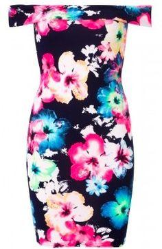 BohoPink - Missi Bardot Navy Floral Print Off The Shoulder Dress, $49.00 (http://www.bohopink.com/missi-bardot-navy-floral-print-off-the-shoulder-dress/)